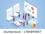business team work together in... | Shutterstock .eps vector #1784895857