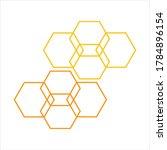 honeycomb background texture...   Shutterstock .eps vector #1784896154