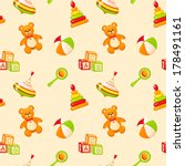 seamless pattern with children... | Shutterstock .eps vector #178491161