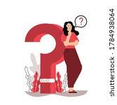 question mark. business women...   Shutterstock .eps vector #1784938064