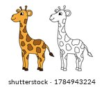 coloring page. little cute... | Shutterstock .eps vector #1784943224