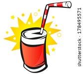 red bank with soda  cartoon ... | Shutterstock .eps vector #178495571