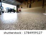 Epoxy floor in home garage