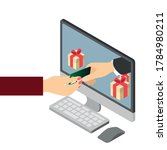 online gifts ordering and... | Shutterstock .eps vector #1784980211