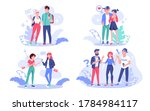 young creative modern people ... | Shutterstock .eps vector #1784984117