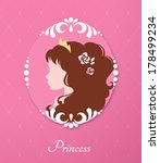 beautiful princess with a crown ... | Shutterstock .eps vector #178499234