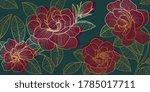 Golden Rose Backgroud Pattern....