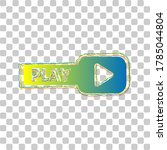Play Button Sign. Blue To Green ...
