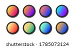 modern gradient round buttons...