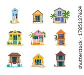 surfer house or baywatch... | Shutterstock .eps vector #1785137624
