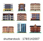set of isolated modern hotel... | Shutterstock .eps vector #1785142007