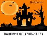 happy halloween poster. vector... | Shutterstock .eps vector #1785146471