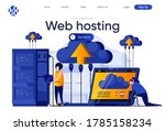 web hosting flat landing page.... | Shutterstock .eps vector #1785158234