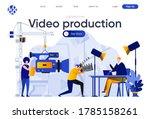 video production flat landing... | Shutterstock .eps vector #1785158261