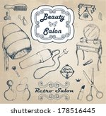 hand drawn vintage salon | Shutterstock .eps vector #178516445