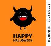 happy halloween. monster... | Shutterstock .eps vector #1785171221