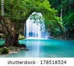 cliff of waterfall  | Shutterstock . vector #178518524