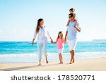 family having fun on the beach | Shutterstock . vector #178520771