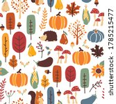 thanksgiving autumn seamless... | Shutterstock .eps vector #1785215477