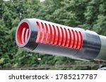 Part of barrel the artillery cannon.