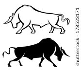 bull illustrations | Shutterstock .eps vector #178523171