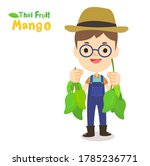 thai farmer have mango thai...   Shutterstock .eps vector #1785236771