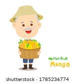 thai farmer have mango thai...   Shutterstock .eps vector #1785236774