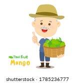 thai farmer have mango thai...   Shutterstock .eps vector #1785236777