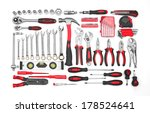 many tools isolated on white... | Shutterstock . vector #178524641