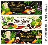 thai spices  herbs and... | Shutterstock .eps vector #1785248177