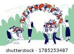 wedding agency staff characters ... | Shutterstock .eps vector #1785253487