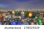bangkok city night view with... | Shutterstock . vector #178525529