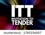 Itt   Invitation To Tender...