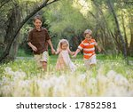 young siblings playing in nature | Shutterstock . vector #17852581