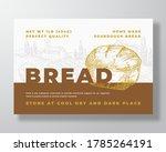 sourdough bread label template. ... | Shutterstock .eps vector #1785264191