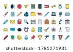 school supplies icon set over...   Shutterstock .eps vector #1785271931