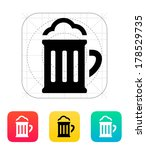 beer glass pub icon. vector...