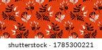 Red Rose Hip Seamless Pattern...