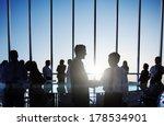 global business people shaking... | Shutterstock . vector #178534901