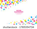 abstract polka dots colorful...   Shutterstock .eps vector #1785354734