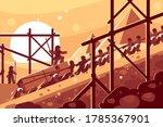 construction of egyptian... | Shutterstock . vector #1785367901