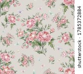seamless pattern bouquets of... | Shutterstock . vector #1785372884