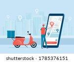 business online delivery...   Shutterstock .eps vector #1785376151