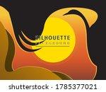 animal silhouette background.... | Shutterstock .eps vector #1785377021