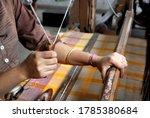Handloom weaver in india...