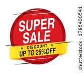 super sale banner vector... | Shutterstock .eps vector #1785400541