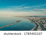 High quality city and beach view taken by drone from Atakum district of Kurupelit Yat Limanı Samsun.