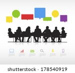 vector of business meeting and... | Shutterstock .eps vector #178540919
