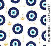 evil eyes seamless pattern.... | Shutterstock .eps vector #1785410567