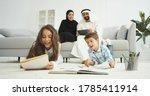 Arabian Happy Kids Sitting On...